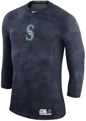 Nike Men's Navy Seattle Mariners Authentic Collection Pro Hypercool 3/4-Sleeve Performance T-Shirt