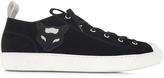N°21 Black Velour Low Top Men's Sneaker