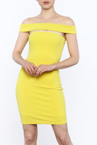 Alythea Yellow Bodycon Dress