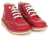 Kickers Red Kick High Leather Boots