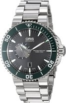 Oris Men's 74376734137MB Aquis Analog Display Swiss Automatic Silver Watch