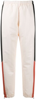 Marine Serre Contrast Panel Cuffed Trousers