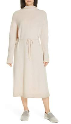 Vince Funnel Neck Wool Blend Sweater Dress