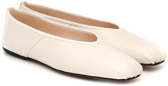 The Row Ballet leather ballet flats