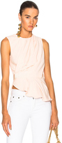Carven Drape Sleeveless Top in Neutrals,Pink.
