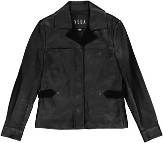 Veda Black Leather Jackets