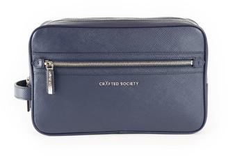 Crafted Society Edy Washbag - Navy Saffiano Leather