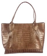 Nancy Gonzalez Metallic Crocodile Tote