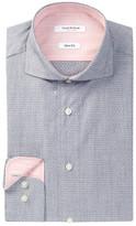 Isaac Mizrahi Long Sleeve Slim Fit Dobby Dress Shirt