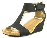 Adrienne Vittadini Trellis Open Toe Suede Wedge Sandal.