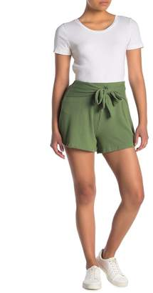 Lush High Waisted Drawstring Knit Shorts