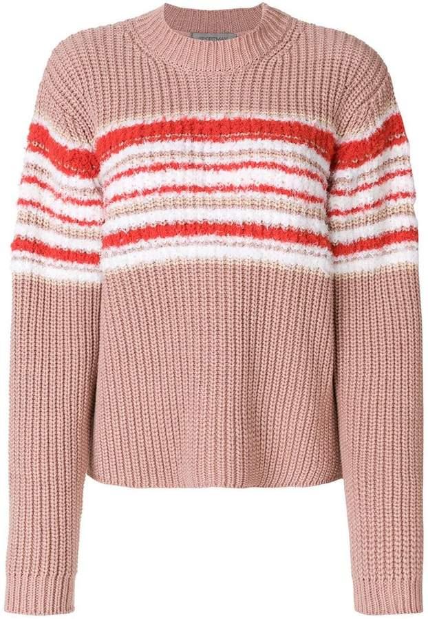 Sportmax ribbed contrast knit jumper