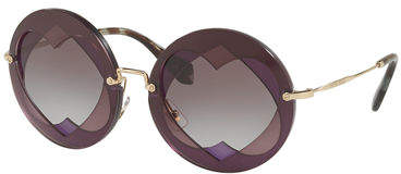 Miu Miu Round Layered Heart Sunglasses