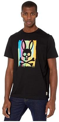 Psycho Bunny Printed T-Shirt (Black) Men's Clothing