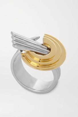 Leda Madera - Meryl Palladium-plated And Gold-plated Ring - Silver