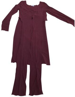 Philosophy di Alberta Ferretti Burgundy Synthetic Dresses
