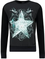 Just Cavalli Sweatshirt Black Tatoo Print