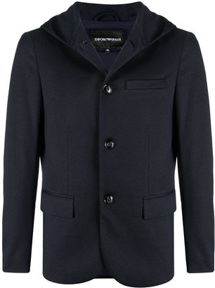 Emporio Armani Hooded Button-Down Blazer