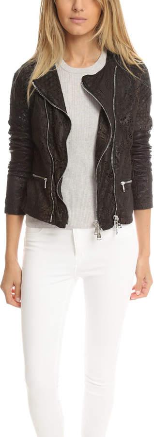 Giorgio Brato Double Zip Lace Leather Jacket