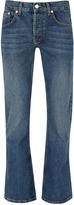 Topman Dark Wash Flare Jeans