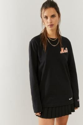 Champion Mets NBA Long Sleeve T-Shirt - Black XS at Urban Outfitters