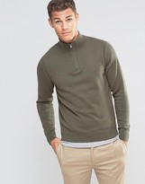 Tommy Hilfiger Jumper With 1/2 Zip In Green
