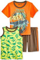 Nannette 3-Pc. T-Shirt, Tank & Shorts Set, Toddler & Little Boys (2T-7)