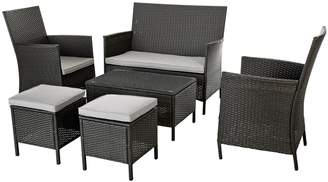 Argos Home 6 Seater Rattan Effect Sofa Set