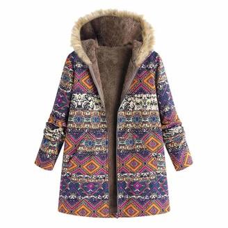 Kalorywee Sale Clearance Outwear KaloryWee Fur Jacket Women Faux Teddy Bear Winter Warm Fashion Boho Coat with Hood Pockets Parka Hooded Coats Plus Size Purple