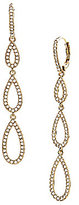Nadri Pave Triple Teardrop Linear Earrings