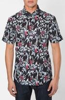 7 Diamonds Men's 'Ignition' Trim Fit Short Sleeve Print Woven Shirt