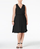 Love Squared Trendy Plus Size Faux-Wrap Fit & Flare Dress