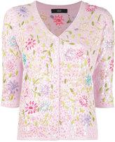 Steffen Schraut floral motif cardigan