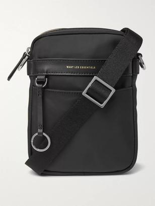 WANT Les Essentiels Reagan Leather-Trimmed Nylon Messenger Bag