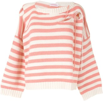 Charles Jeffrey Loverboy Striped Cut-Out Sweater