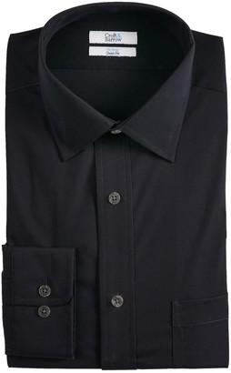 Croft & Barrow Men's Classic-Fit Spread-Collar No-Iron Stretch Dress Shirt