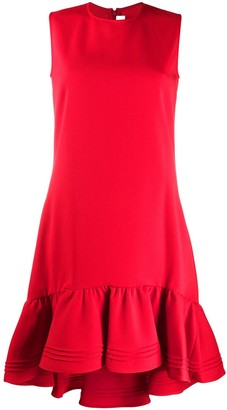 Victoria Victoria Beckham Ruffled Hem Sleeveless Dress