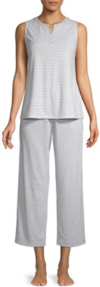 Carole Hochman 2-Piece Striped Pajama Set