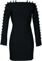 David Koma strappy sleeves mini dress - women - Nylon/Spandex/Elastane/Rayon - S