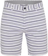 Oxford Henry Striped Shorts Pet/Wht X