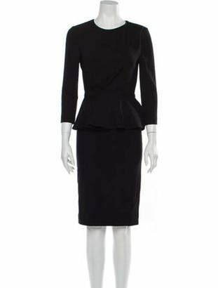Gucci Crew Neck Knee-Length Dress Black