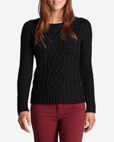 Eddie Bauer Women's Cable Crewneck Sweater