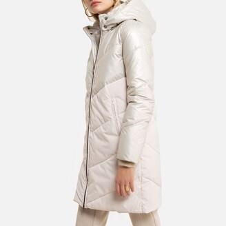 Anne Weyburn Mid-Length Padded Jacket with Hood