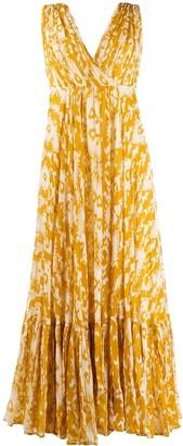 Mes Demoiselles abstract print long dress