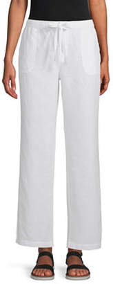 Liz Claiborne Womens Wide Leg Drawstring Pants