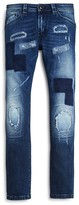 Diesel Boys' Patchwork Distressed Skinny Jeans - Sizes 4-16