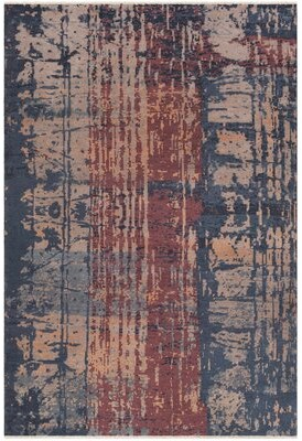 Surya Herkimer Modern Abstract Hand-Tufted Navy/Burgundy Area Rug Rug Size: Rectangle 2' x 3'
