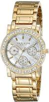 Akribos XXIV Women's AK530YG Diamond Multi-Function Crystal Bracelet Watch
