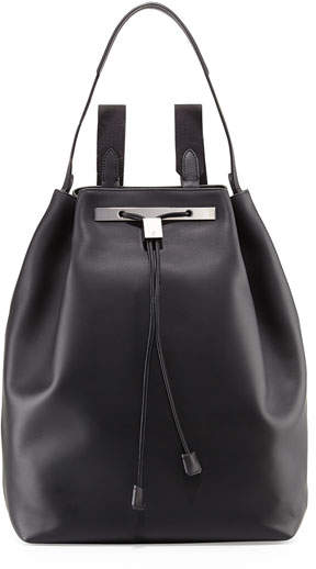 The Row Backpack 11 Leather Bag, Black