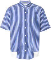 Sacai striped short sleeve shirt